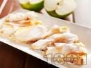 Рецепта Пухкави банички от готови кори с ябълки и локум
